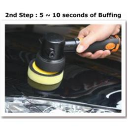 2nd Step : 5 - 10 seconds of Buffing